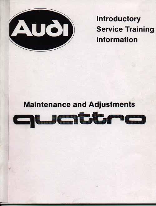 Sjm45255700 C Audi Urquattro Maintenance Training Manual 1982: Audi Sport Quattro Wiring Diagram At Mazhai.net
