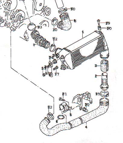 single pass intercoolers used on 1991 200tq 20v and european 10v Turbocharger Speed Sensor diagram courtesy of audi ag